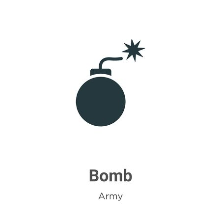 Bomb vector icon on white background. Flat vector bomb icon symbol sign from modern army collection for mobile concept and web apps design. Illusztráció