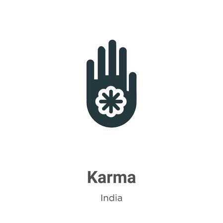 Karma vector icon on white background. Flat vector karma icon symbol sign from modern india collection for mobile concept and web apps design.