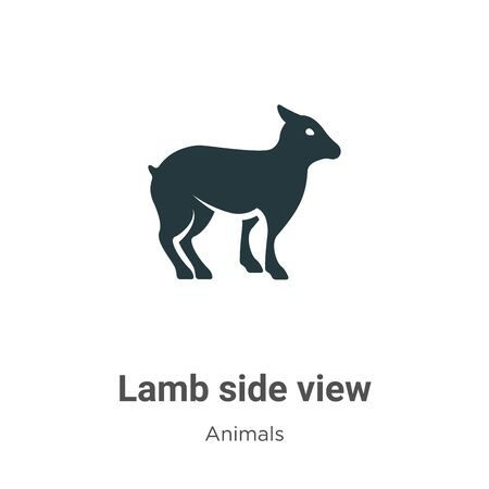 Lamb side view vector icon on white background. Flat vector lamb side view icon symbol sign from modern animals collection for mobile concept and web apps design. 向量圖像