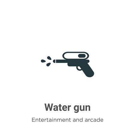 Water gun vector icon on white background. Flat vector water gun icon symbol sign from modern entertainment and arcade collection for mobile concept and web apps design.