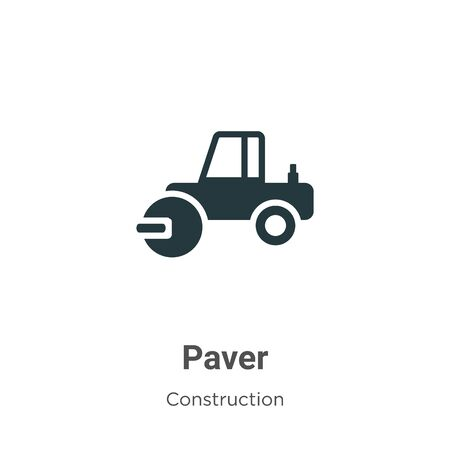 Paver vector icon on white background. Flat vector paver icon symbol sign from modern construction collection for mobile concept and web apps design. Ilustracja