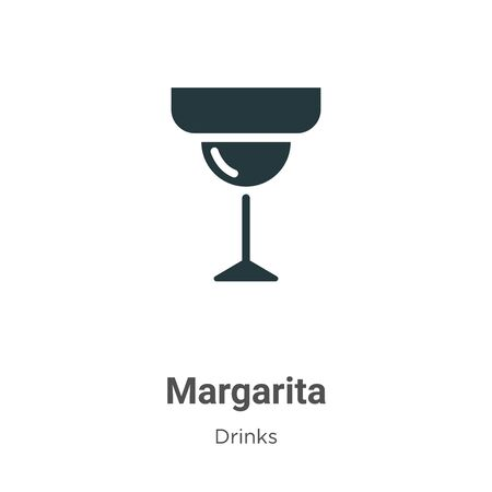 Margarita vector icon on white background. Flat vector margarita icon symbol sign from modern drinks collection for mobile concept and web apps design.