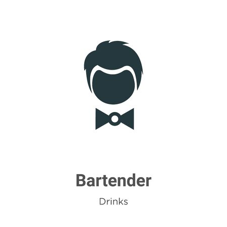 Bartender vector icon on white background. Flat vector bartender icon symbol sign from modern drinks collection for mobile concept and web apps design.