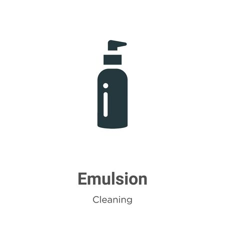 Emulsion vector icon on white background. Flat vector emulsion icon symbol sign from modern cleaning collection for mobile concept and web apps design.