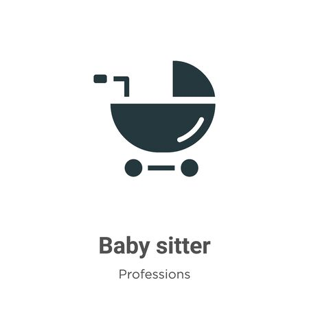 Baby sitter vector icon on white background. Flat vector baby sitter icon symbol sign from modern professions collection for mobile concept and web apps design.