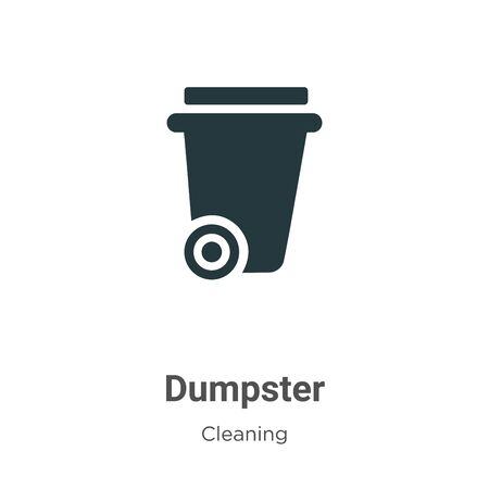 Dumpster vector icon on white background. Flat vector dumpster icon symbol sign from modern cleaning collection for mobile concept and web apps design.