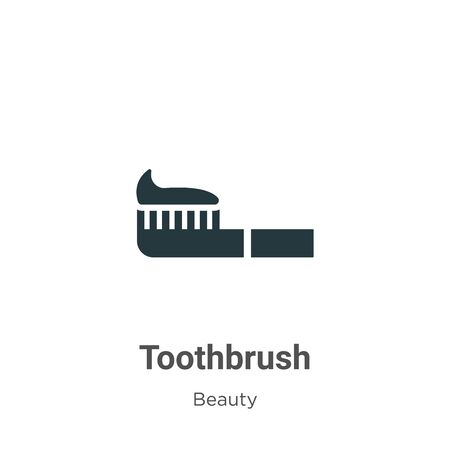 Toothbrush vector icon on white background. Flat vector toothbrush icon symbol sign from modern beauty collection for mobile concept and web apps design.