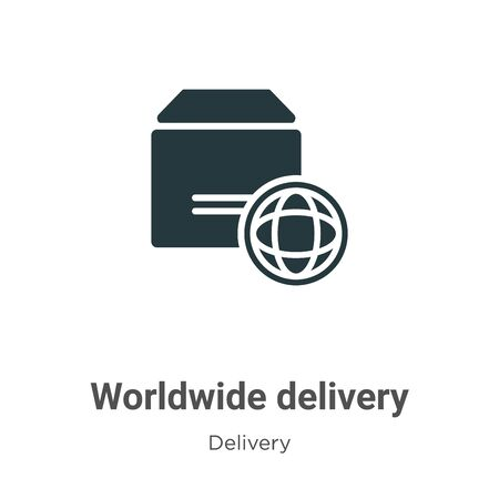 Worldwide delivery vector icon on white background. Flat vector worldwide delivery icon symbol sign from modern delivery collection for mobile concept and web apps design.
