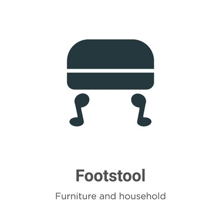 Footstool vector icon on white background. Flat vector footstool icon symbol sign from modern furniture and household collection for mobile concept and web apps design.