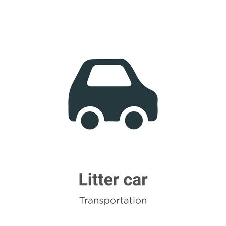 Litter car vector icon on white background. Flat vector litter car icon symbol sign from modern transportation collection for mobile concept and web apps design.