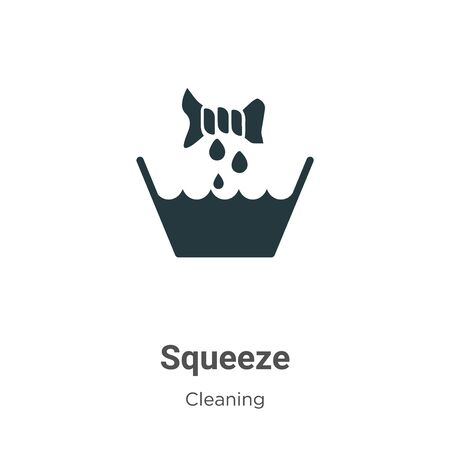 Squeeze vector icon on white background. Flat vector squeeze icon symbol sign from modern cleaning collection for mobile concept and web apps design.