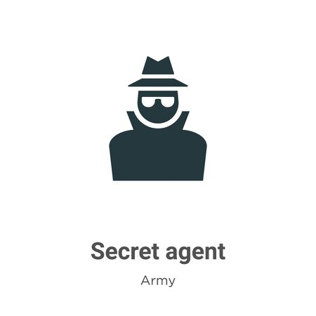Secret agent vector icon on white background. Flat vector secret agent icon symbol sign from modern army collection for mobile concept and web apps design. 向量圖像