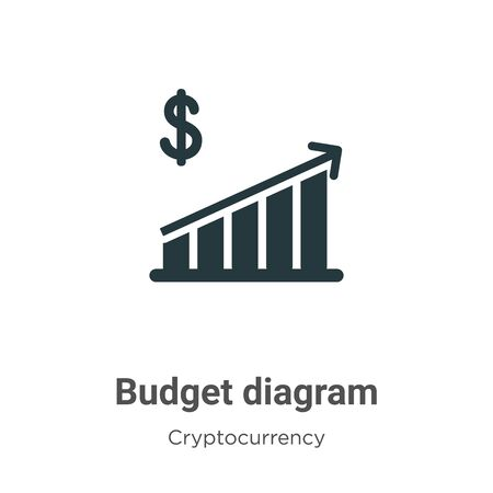 Budget diagram vector icon on white background. Flat vector budget diagram icon symbol sign from modern cryptocurrency collection for mobile concept and web apps design.