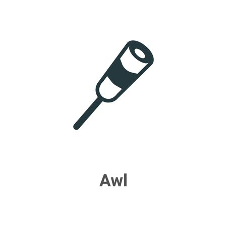 Awl vector icon on white background. Flat vector awl icon symbol sign from modern sew collection for mobile concept and web apps design.