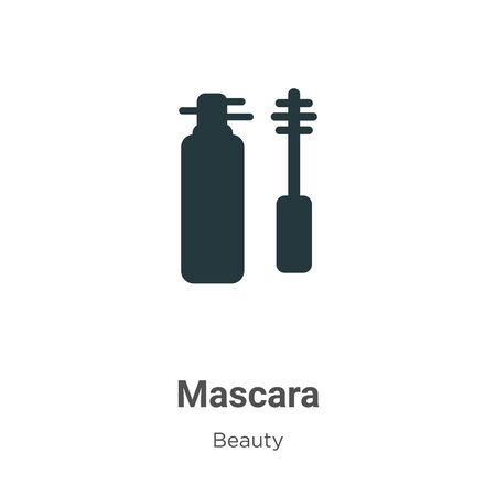 Mascara vector icon on white background. Flat vector mascara icon symbol sign from modern beauty collection for mobile concept and web apps design.