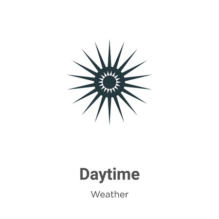 Daytime vector icon on white background. Flat vector daytime icon symbol sign from modern weather collection for mobile concept and web apps design.