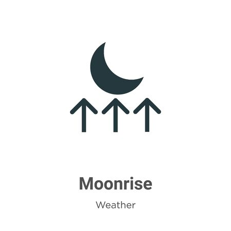 Moonrise vector icon on white background. Flat vector moonrise icon symbol sign from modern weather collection for mobile concept and web apps design.