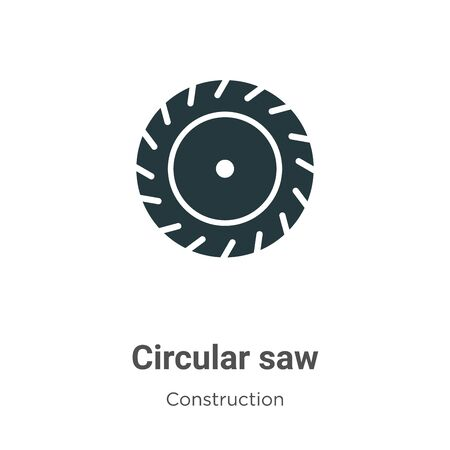 Circular saw vector icon on white background. Flat vector circular saw icon symbol sign from modern construction collection for mobile concept and web apps design.