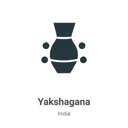 Yakshagana vector icon on white background. Flat vector yakshagana icon symbol sign from modern india collection for mobile concept and web apps design.