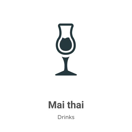 Mai thai vector icon on white background. Flat vector mai thai icon symbol sign from modern drinks collection for mobile concept and web apps design. 일러스트