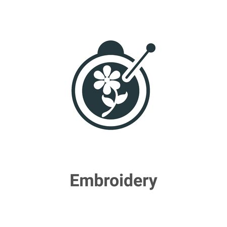 Embroidery vector icon on white background. Flat vector embroidery icon symbol sign from modern sew collection for mobile concept and web apps design.