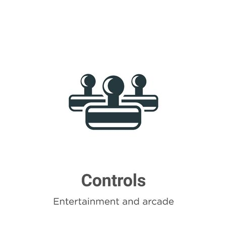Controls vector icon on white background. Flat vector controls icon symbol sign from modern entertainment and arcade collection for mobile concept and web apps design. Ilustração