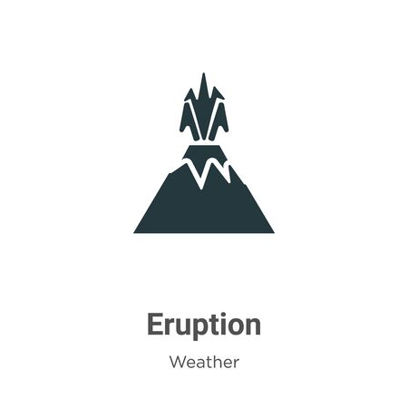 Eruption vector icon on white background. Flat vector eruption icon symbol sign from modern weather collection for mobile concept and web apps design. Ilustração