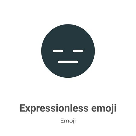 Expressionless emoji vector icon on white background. Flat vector expressionless emoji icon symbol sign from modern emoji collection for mobile concept and web apps design. Illustration