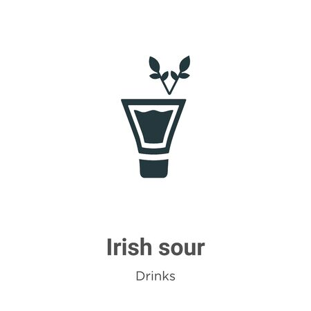 Irish sour vector icon on white background. Flat vector irish sour icon symbol sign from modern drinks collection for mobile concept and web apps design.