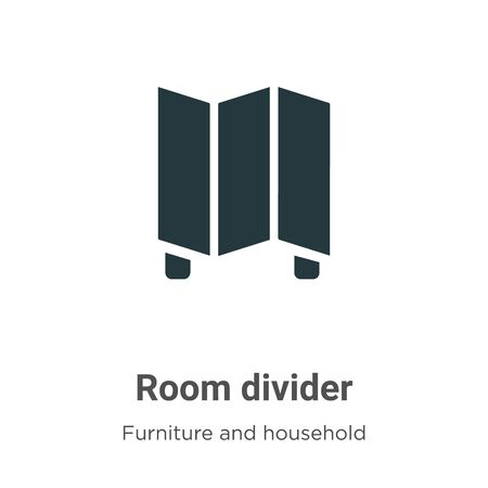 Room divider vector icon on white background. Flat vector room divider icon symbol sign from modern furniture and household collection for mobile concept and web apps design. Ilustração