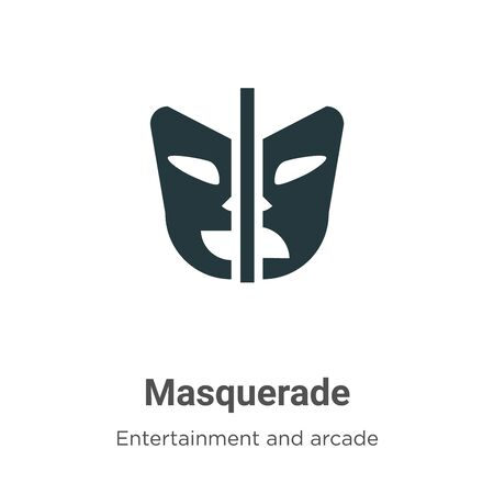 Masquerade vector icon on white background. Flat vector masquerade icon symbol sign from modern entertainment and arcade collection for mobile concept and web apps design.
