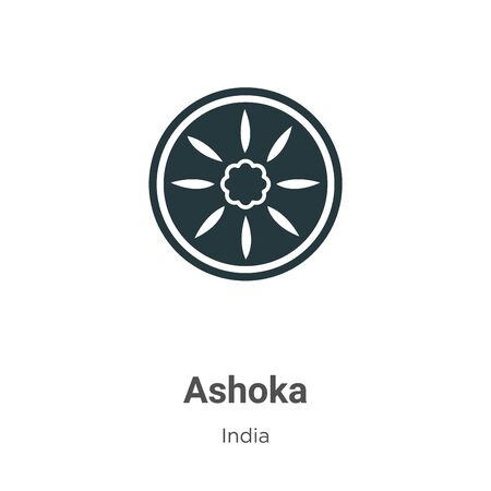 Ashoka vector icon on white background. Flat vector ashoka icon symbol sign from modern india collection for mobile concept and web apps design.