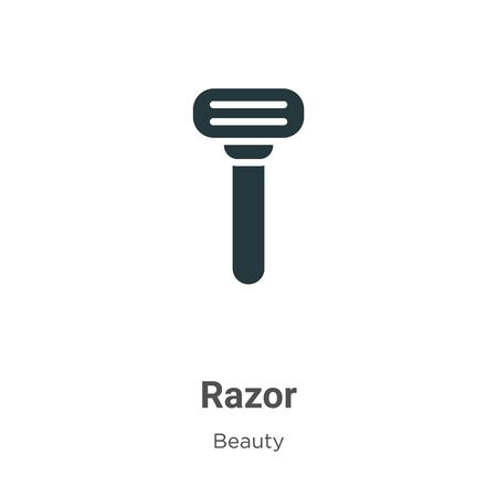 Razor vector icon on white background. Flat vector razor icon symbol sign from modern beauty collection for mobile concept and web apps design. Vecteurs