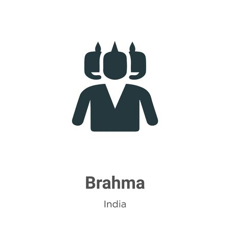 Brahma vector icon on white background. Flat vector brahma icon symbol sign from modern india collection for mobile concept and web apps design.