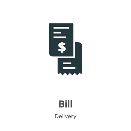 Bill vector icon on white background. Flat vector bill icon symbol sign from modern delivery collection for mobile concept and web apps design.