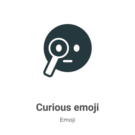 Curious emoji vector icon on white background. Flat vector curious emoji icon symbol sign from modern emoji collection for mobile concept and web apps design. Ilustração