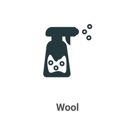 Wool vector icon on white background. Flat vector wool icon symbol sign from modern sew collection for mobile concept and web apps design. Ilustração