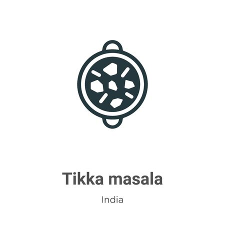 Tikka masala vector icon on white background. Flat vector tikka masala icon symbol sign from modern india collection for mobile concept and web apps design. Illustration