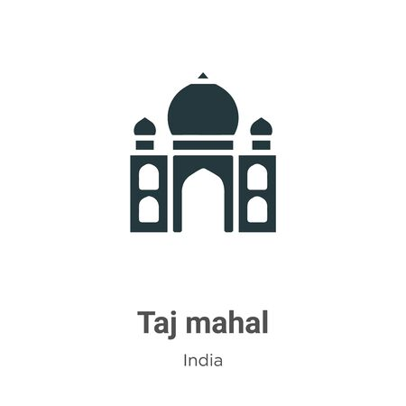 Taj mahal vector icon on white background. Flat vector taj mahal icon symbol sign from modern india collection for mobile concept and web apps design. Ilustração