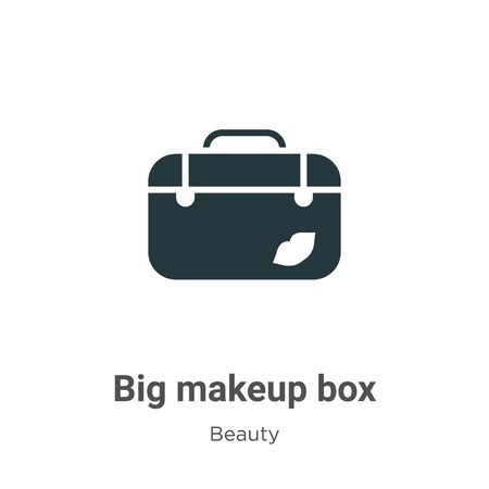 Big makeup box vector icon on white background. Flat vector big makeup box icon symbol sign from modern beauty collection for mobile concept and web apps design.