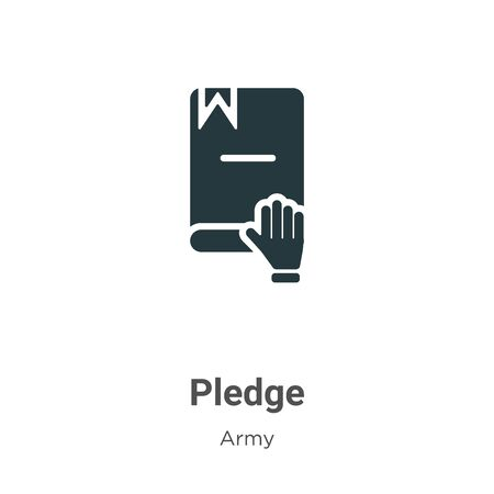 Pledge vector icon on white background. Flat vector pledge icon symbol sign from modern army collection for mobile concept and web apps design.