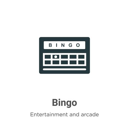 Bingo vector icon on white background. Flat vector bingo icon symbol sign from modern entertainment and arcade collection for mobile concept and web apps design.