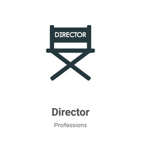 Director vector icon on white background. Flat vector director icon symbol sign from modern professions collection for mobile concept and web apps design.