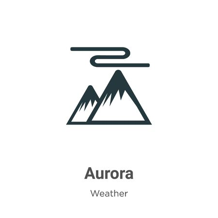 Aurora vector icon on white background. Flat vector aurora icon symbol sign from modern weather collection for mobile concept and web apps design.