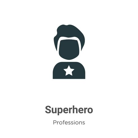 Superhero vector icon on white background. Flat vector superhero icon symbol sign from modern professions collection for mobile concept and web apps design.