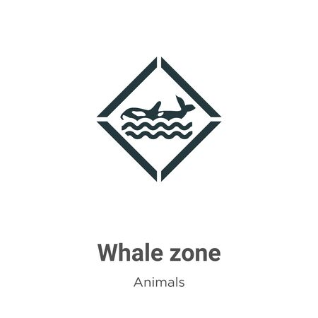 Whale zone vector icon on white background. Flat vector whale zone icon symbol sign from modern animals collection for mobile concept and web apps design. Ilustração