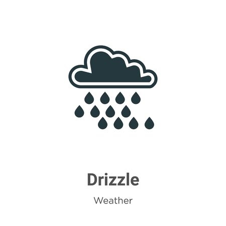 Drizzle vector icon on white background. Flat vector drizzle icon symbol sign from modern weather collection for mobile concept and web apps design.