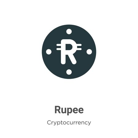 Rupee vector icon on white background. Flat vector rupee icon symbol sign from modern cryptocurrency collection for mobile concept and web apps design. 向量圖像