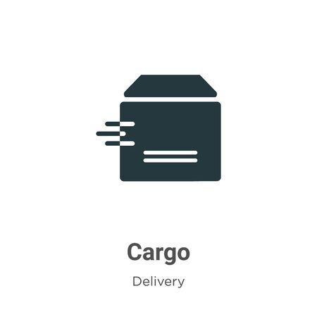 Cargo vector icon on white background. Flat vector cargo icon symbol sign from modern delivery collection for mobile concept and web apps design.