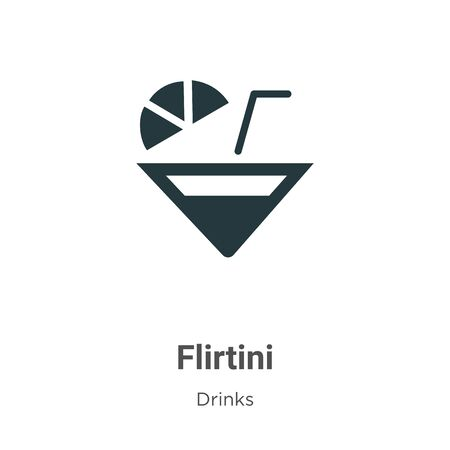 Flirtini vector icon on white background. Flat vector flirtini icon symbol sign from modern drinks collection for mobile concept and web apps design.